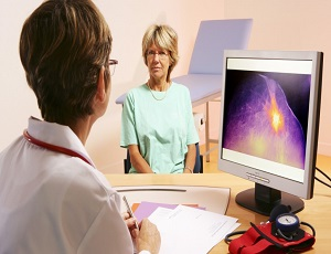 Woman Consulting with Doctor about Breast Cancer
